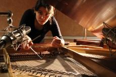 Recording prepared piano samples with Silvina Peruglia