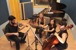 rehearsal with GEAM Ensemble