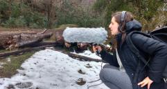 Field recording in San Martin de los Andes