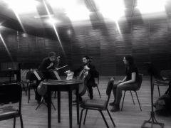 working my piece ¨Gregorovius¨ with Séverine Ballon And Bruno D'Ambrosio