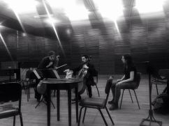 working my piece ¨Gregorovius¨ with Séverine Ballon And Bruno D'Ambrosio